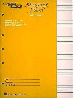 Manuscript Paper (Wide Staff) E-Z Play Today By Hal Leonard Publishing Corporation (COR)